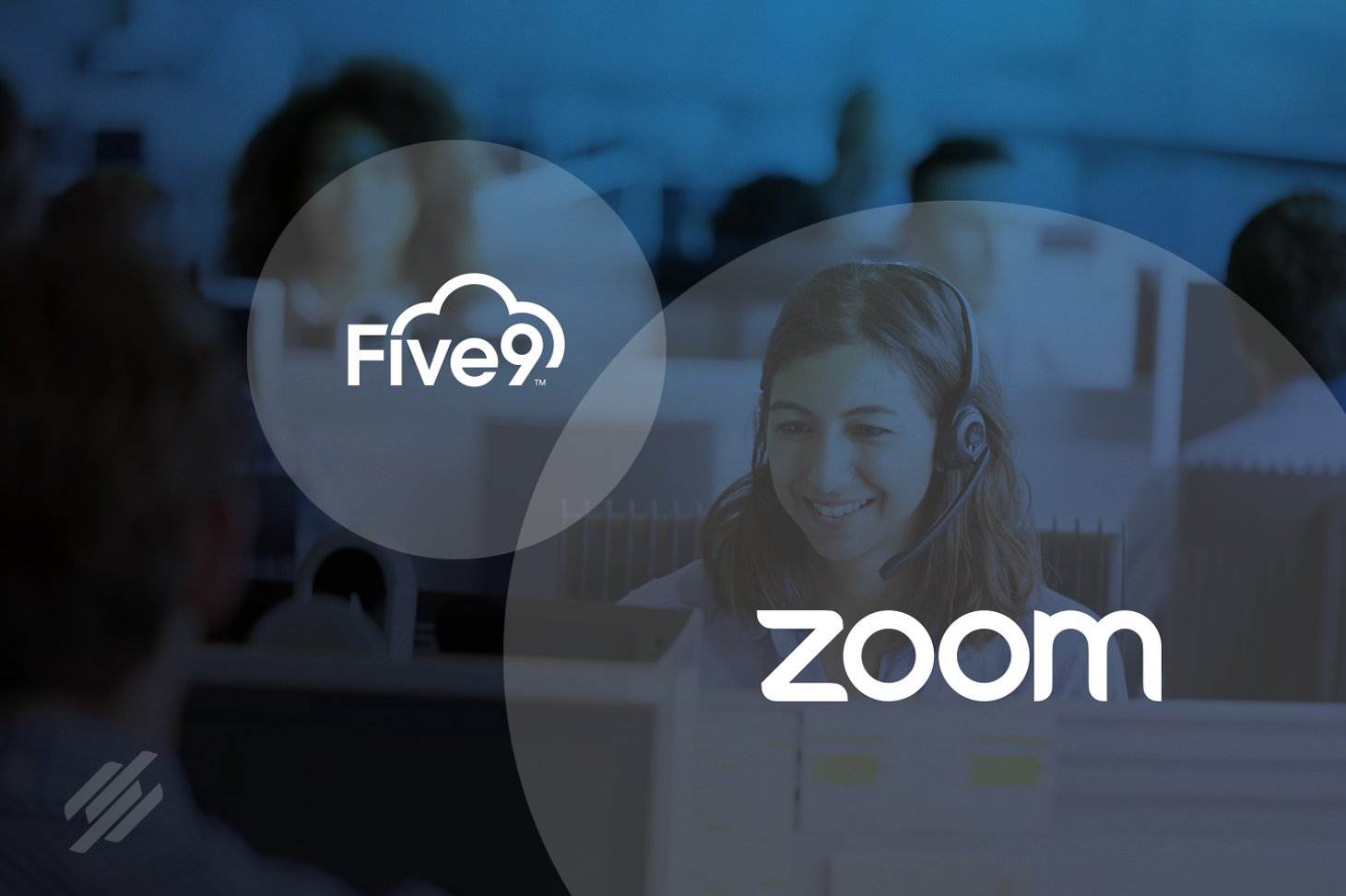 Zoom and Five9 logo